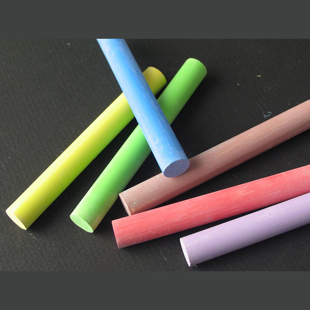 Niepyląca kreda szkolna kolorowa TOMA