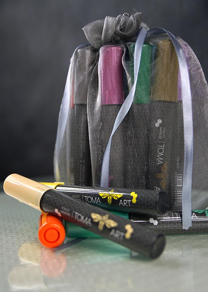 Zestaw markerów akrylowych TOMA 12 sztuk