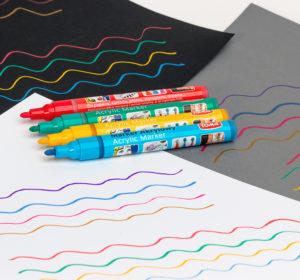 Markery z farbą do wszystkich powierzchni