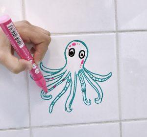 Rysunki w łazience