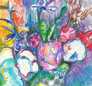 Jak narysować bukiet kwiatów